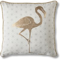 Geo Flamingo Gold Cushion Gold