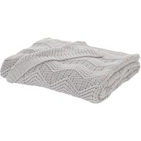 Soft Knit Grey Throw Grey