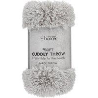 Cuddly Silver Throw Grey