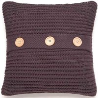 Chunky Knit Charcoal Cushion Cover Grey