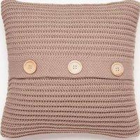 Chunky Knit Natural Cushion Cover Natural