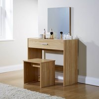 julia dressing table set oak (brown)