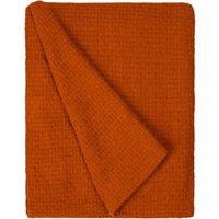 Basketweave Orange Throw Orange