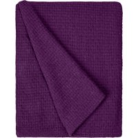 Basketweave Plum Throw Plum Purple