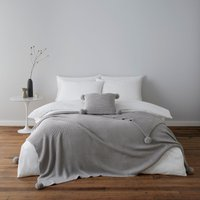 Pom Pom Grey Knit Cushion Grey