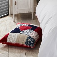 Jan Constantine 100% Cotton Patchwork Cushion Multi Coloured