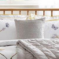 Harris & Hatherly by Jane Abbott 100% Cotton Velvet Silver Cushion Silver