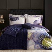 Harris & Hatherly by Jane Abbott 100% Cotton Velvet Navy Bedspread Navy (Blue)
