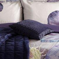 Harris & Hatherly by Jane Abbott 100% Cotton Velvet Navy Cushion Navy (Blue)