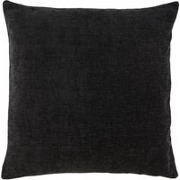 Large Chenille Black Cushion Black