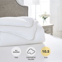 Dorma Sumptuous Down Like 10.5 Tog Duvet White