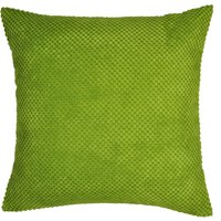 Large Chenille Spot Green Cushion Green