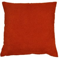 Large Chenille Spot Terracotta Cushion Terracotta