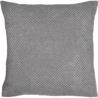Large Chenille Spot Charcoal Cushion Charcoal