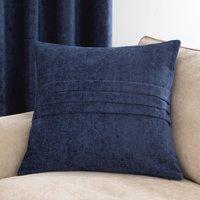 Large Chenille Navy Cushion Navy