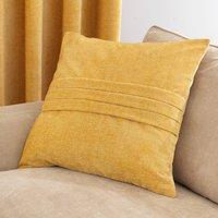 Large Chenille Ochre Cushion Ochre