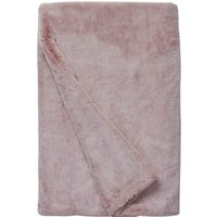 Blush Snowy Faux Fur Throw Blush