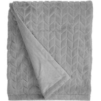 Grey Chevron Faux Fur Throw Grey