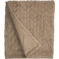 Mink Chevron Faux Fur Throw Mink Mink