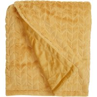 Ochre Chevron Faux Fur Throw Ochre