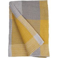 Woven Check Ochre Throw Ochre