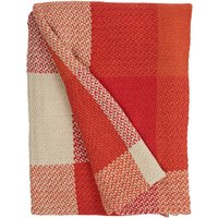 Woven Check Red Throw Red