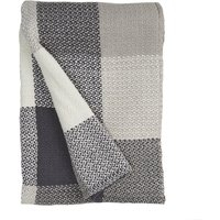 Woven Check Grey Throw Grey
