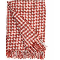 Houndstooth Rust Throw Rust