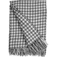 Houndstooth Grey Throw Grey