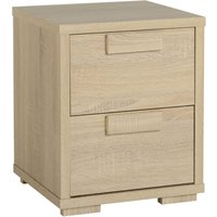 cambourne 2 drawer bedside table antique pine (brown)