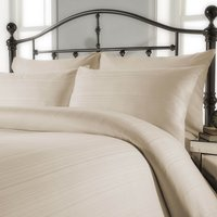 Behrens Contemporary Ivory Stripe Duvet Cover and Pillowcase Set Ivory (Natural)