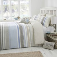 Dreams n Drapes Falmouth Duvet Cover and Pillowcase Set Blue