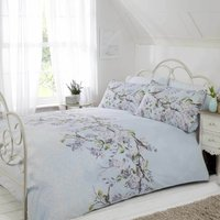 Rapport Home Eloise Duck Egg Duvet Cover and Pillowcase Set Duck Egg (Blue)