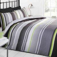 Rapport Home Cambridge Duvet Cover and Pillowcase Set Black