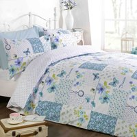 Rapport Home Dream Patchwork Teal Duvet Cover and Pillowcase Set Teal (Green)