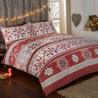 Stockholm Red Duvet Cover and Pillowcase Set Red