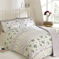 Rapport Home Rise and Shine Duvet Cover and Pillowcase Set Lilac (Purple)