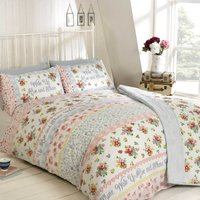 Rapport Home Rise and Shine Duvet Cover and Pillowcase Set Coral (Red)