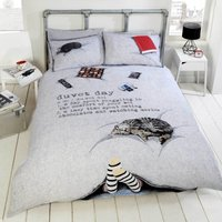 Rapport Home Duvet Day Duvet Cover and Pillowcase Set Grey