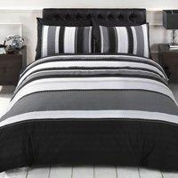 Rapport Home Detroit Duvet Cover and Pillowcase Set Black