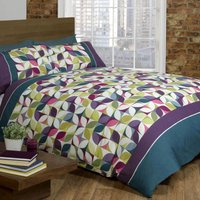 Rapport Home Niamh Teal Duvet Cover and Pillowcase Set Teal (Blue)