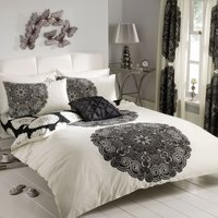 Gaveno Cavailia Manhattan Black Duvet Cover and Pillowcase Set Black
