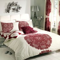 Gaveno Cavailia Manhattan Red Duvet Cover and Pillowcase Set Red Rose (Red)