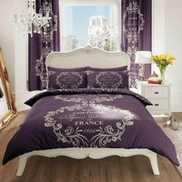 Gaveno Cavailia Script Purple Duvet Cover and Pillowcase Set Plum (Purple)