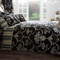 Gaveno Cavailia Richmond Black Duvet Cover and Pillowcase Set Black