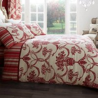 Gaveno Cavailia Richmond Red Duvet Cover and Pillowcase Set Wine (Red)