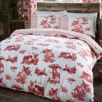 Gaveno Cavailia Safari Red Duvet Cover and Pillowcase Set Red