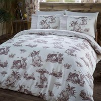 Gaveno Cavailia Safari Brown Duvet Cover and Pillowcase Set Brown