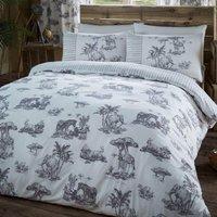 Gaveno Cavailia Safari Grey Duvet Cover and Pillowcase Set Grey