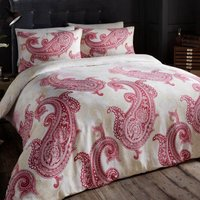 Gaveno Cavailia Paisley Crescent Red Duvet Cover and Pillowcase Set Red